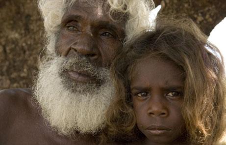 Australian aborigines blonde hair